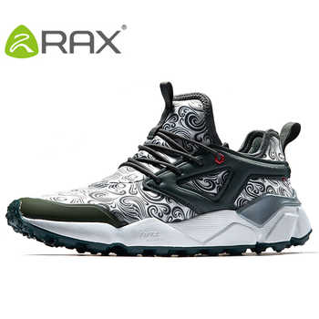 RAX Men\'s Breathable Hiking Shoes Outdoor Sports Trail Shoes Sneakers Women Lightweight Walking Shoes Men Antiskid Montain Shoes
