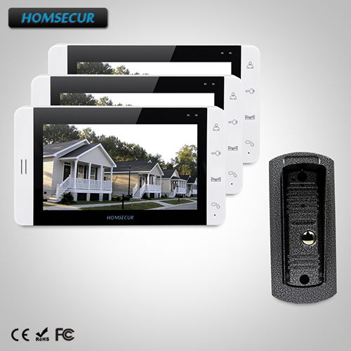 HOMSECUR 7 Video Door Phone Intercom System+White Monitor for Home Security 1C3M : TC041 Camera + TM703-W Monitor (White)