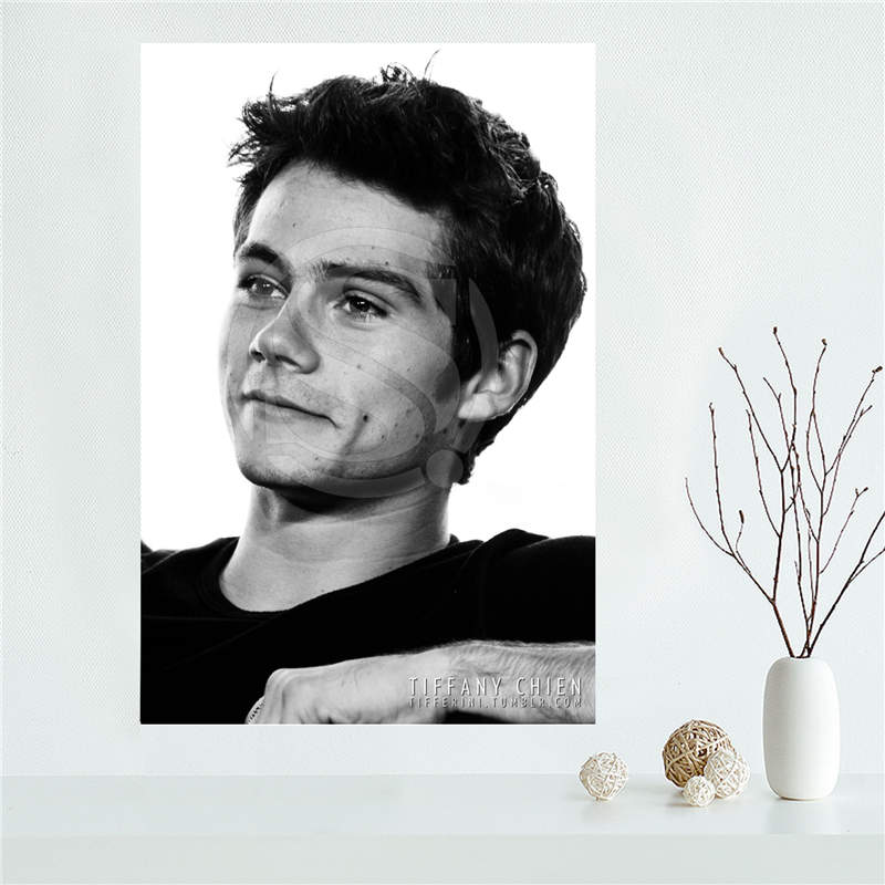 YJW523-L4 Custom Teen Wolf Promotional dylan obrien Canvas Painting Wall Silk Poster cloth print DIY Fabric Poster FF-4