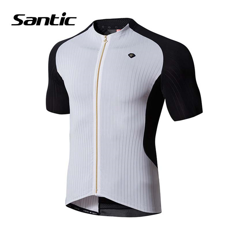 Santic Cycling Jersey 2018 Pro Team Road Bicycle Jersey Men Short Sleeve DH Racing Bike Clothing Downhill MTB Jersey Ciclismo hot cheji men bike long jersey pants sets hornets black pro team cycling clothing riding mtb wear long sleeve shirts