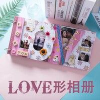Love album diy handmade creative couple gift album loose leaf album scrapbook with 27 organs card creative explosion box