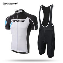XINTOWN White Short Sleeve Cycling Jersey Set Simple MTB Bike Clothing Summer Bicycle Jerseys For Men Maillot Ropa Ciclismo