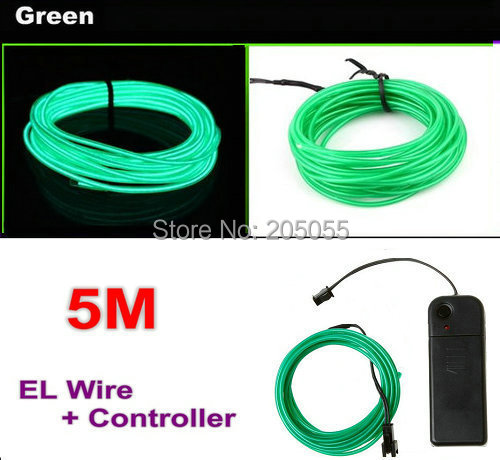 5M Neon EL Wire LED Light Tube strobe flexible Glow Light for Car ...