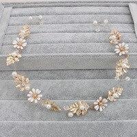 Newly Pearl Beads Shiny Crystal Pearl hair band Wedding Accessories Head Piece Bride Headwear Headband Vintage Hair bands HX050