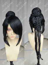 peruca hair queen Final Fantasy / lulu / Braids Head + Wig Bag / Black Cosplay WigParty cosplays heat resistant (B0320)
