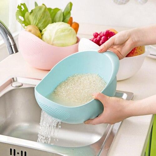 plastic Clean Rice Machine Vegetables basin wash rice sieve fruit bowl fruit basket the kitchen good