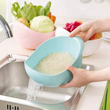 plastic Clean Rice Machine Vegetables basin wash rice sieve fruit bowl fruit basket the kitchen good cooking tools 22*18*11cm