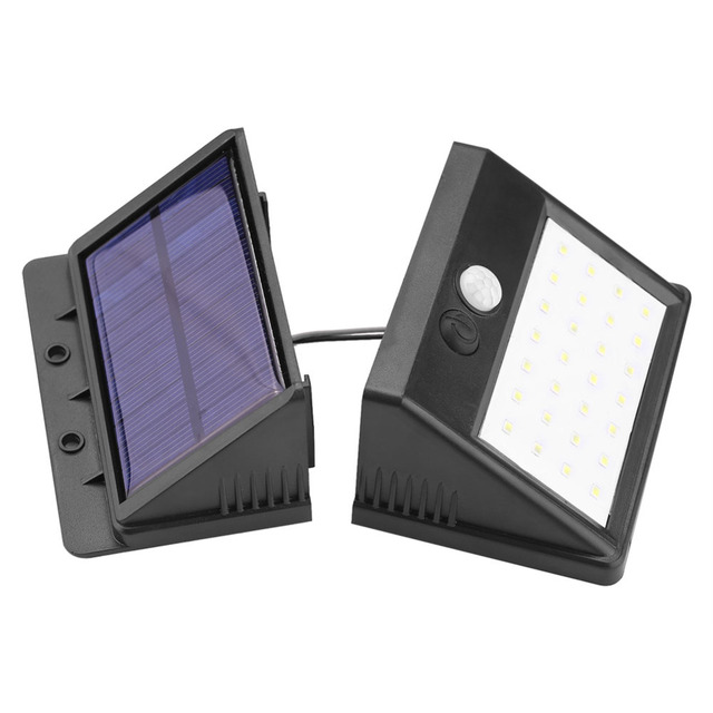 Detachable Solar 28 LED 3 Modes Motion Sensor Security Wall Light Garden Outdoor Lamp 4