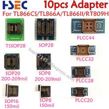 איכות טובה 10 pcs TSSOP28 + SOP28 + SOP20 + SOP16 + SOP8 + PLCC44 + PLCC32 + PLCC28 + 20 מתאם עבור TL866CS//TL866II בתוספת/RT809H Programmmer