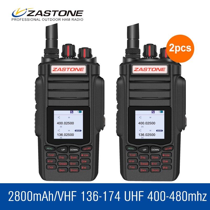 bilder für 2 teile/los ZT-A19 10 Watt High Power Walkie Talkie 136-174 & 400-480 Mhz 999 CH VOX Talkie Walkie FM Transceiver Amateur Radio Station
