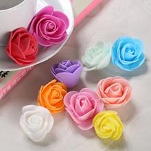 50Pcs Foam Rose Flower Artificial flower Bouquet flowers for home DIY Wreath wedding decoration Fake Flowers