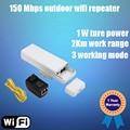 Inalámbrico Al Aire Libre CPE 1000 mW 2 KM Distancia Al Aire Libre 150 adaptador 150mbps Outdoor Wireless Access Point Router CPE con POE WIFI Puente