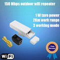 Wireless Outdoor CPE 1000mW Outdoor 2KM Distance 150Mbps Outdoor Wireless Access Point CPE Router with POE adapter WIFI Bridge