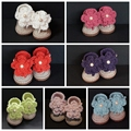 Crocheted baby boots, Blue Girl shoes,Summer crochet baby Toddler shoes 60Pair/lot size 0-12 Months,100% handmade
