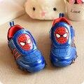 Детская Обувь 2016 Весна Новый Свет Человек-Паук Chaussure Enfant Мальчики Кроссовки Детская Мода Обувь для Детей Бесплатная Доставка
