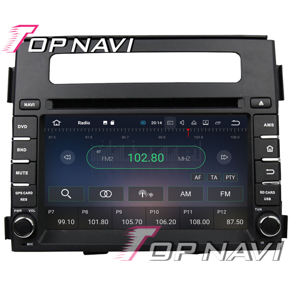 TOPNAVI 6.2 Android 7.1 Car Multimedia Players for KIA Soul 2011-2012 Quad Cpre Ram2g 16G Vehicle PC Media Bluetooth Radio