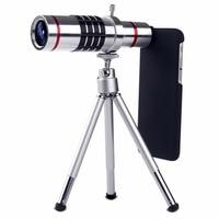 Cellphone Mobiele Telefoon 18x Camera Zoom Optische Telescoop Telelens 25mm Grote Lens Dual Rode Cirkels Draagbare Telescoop