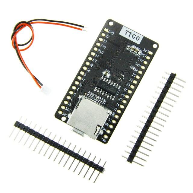 LILYGO®Ttgo ESP 32 v1.3 rev1 placa de desenvolvimento t1 4 mb flash cartão sd módulo wi fi bluetooth