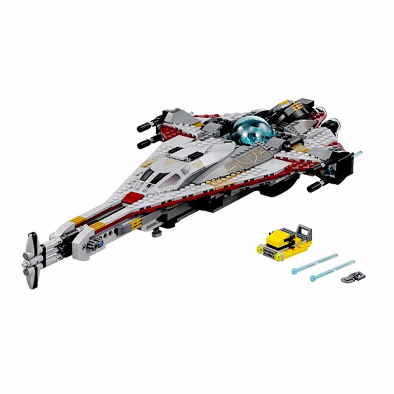 800pcs Lepin Diy Star Series The Arrowhead Set Educational Building Blocks Compatible With Legoingly Brick Toys For Children lepin 05040 y attack starfighter wing building block assembled brick star series war toys compatible with 10134 educational gift