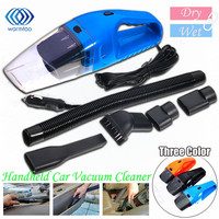 Portable Useful In Car 12V 120W Strong Suction Wet Dry Car Home Mini Handheld Vacuum Cleaner