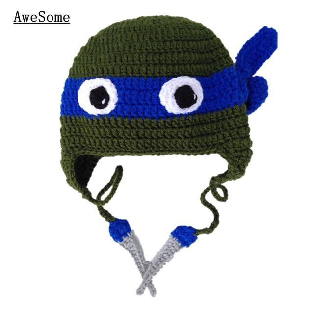 Adorable Teenage Mutant Ninja Turtle Hathandmade Knit Crochet Baby