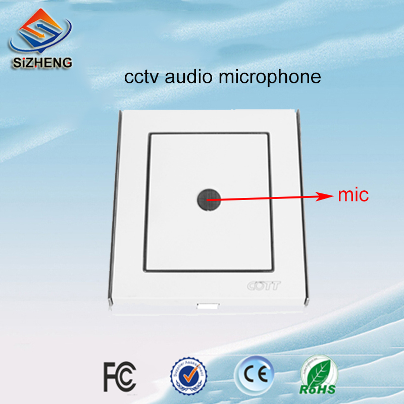SIZHENG COTT C6 CCTV microphone low noise wall sound pickup audio monitor for surveillance cameras and DVR