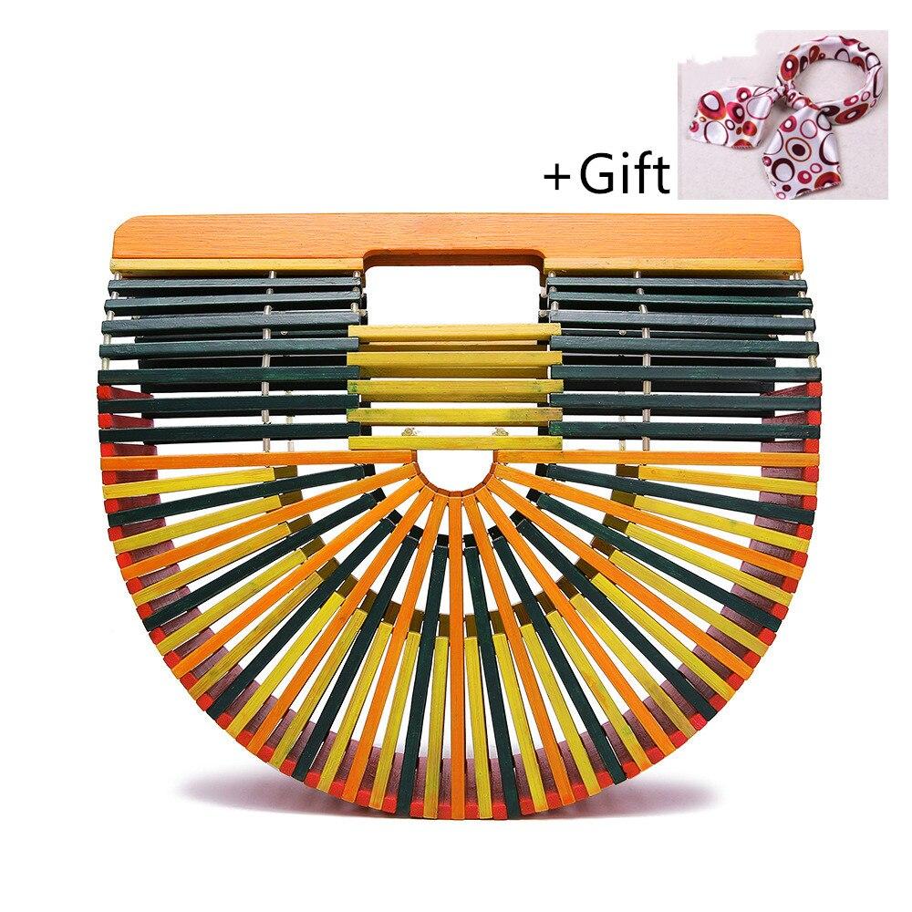 Das Beste Frauen Bambus Handtasche Für Damen Frauen Holz Handtasche Weibliche Handarbeit Gewebt Stroh Strand Tasche Sommer Casual Frauen Geldbörse Für 2019
