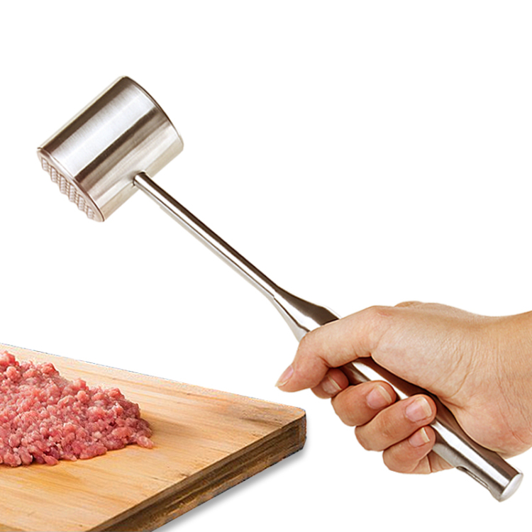 2017 Top Fashion Limited Sausage Stuffer Burger Burger Press Stainless Steel Hammer Knock Loose Meat Steak Pork Chop A Increase