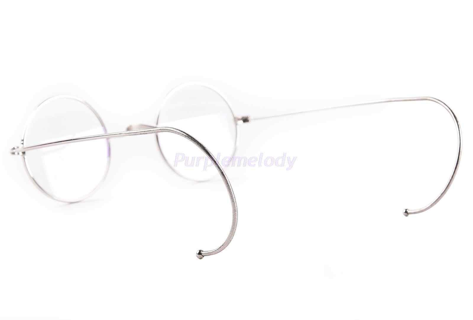 76260594c2 ... 39mm pequeño redondo óptico raro Borde de alambre prescripción gafas  marco niños antiguos ...