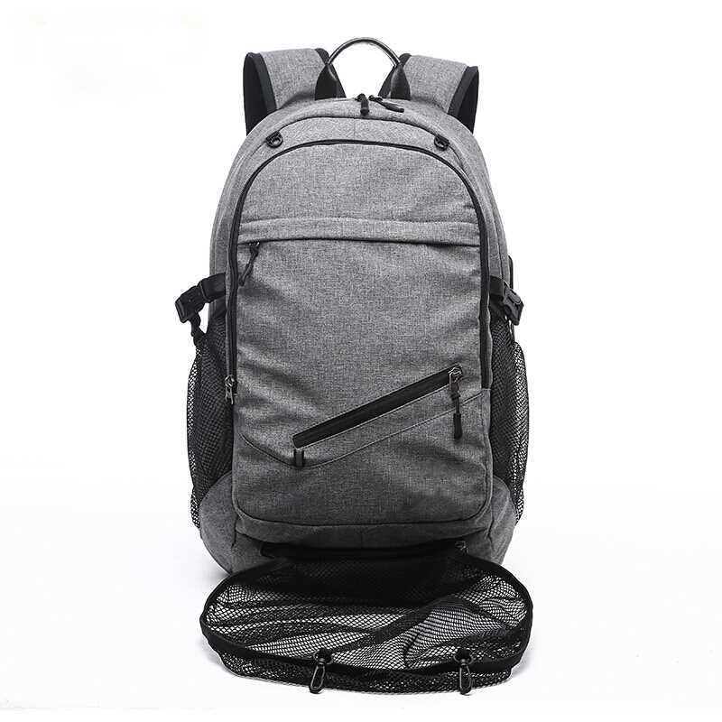 Us 21 88 20 Off Outdoor Men S Sports Gym Bag Laptop Backpack Usb Charging Travel Basketball Backpacks With Ball Holder Ager Soccer Pack In