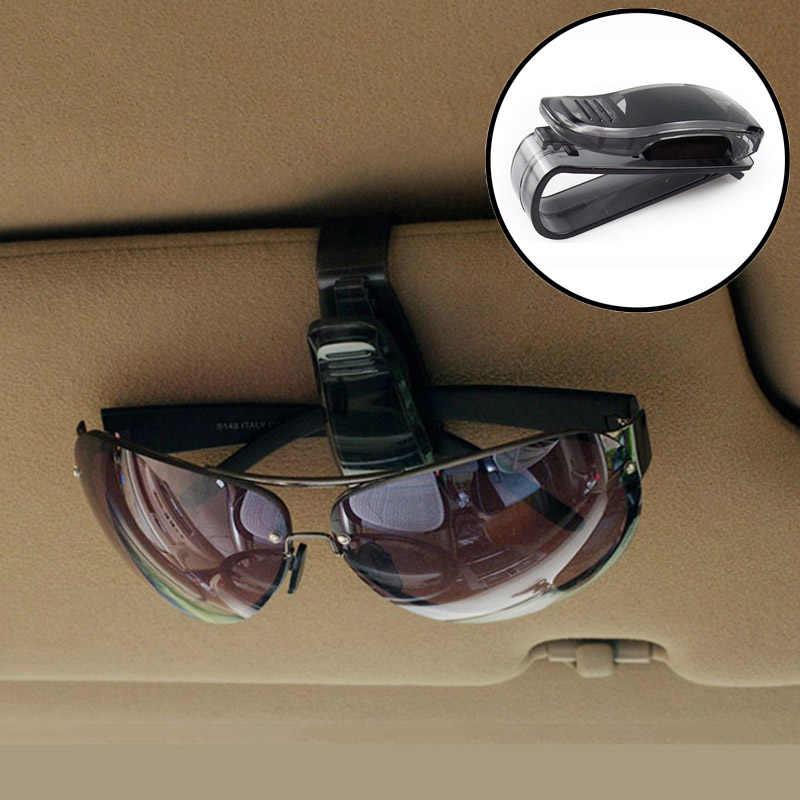 Attache Portable Cip pince à lunettes pince à billet carte ABS voiture etuis à lunettes noir voiture pare-soleil porte-lunettes de soleil