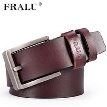 FRALU 2017 Honest Leather Luxury Belt Men Belt Men Black and Brown Color Retro Pin Buckle Belt Men ceinture homme