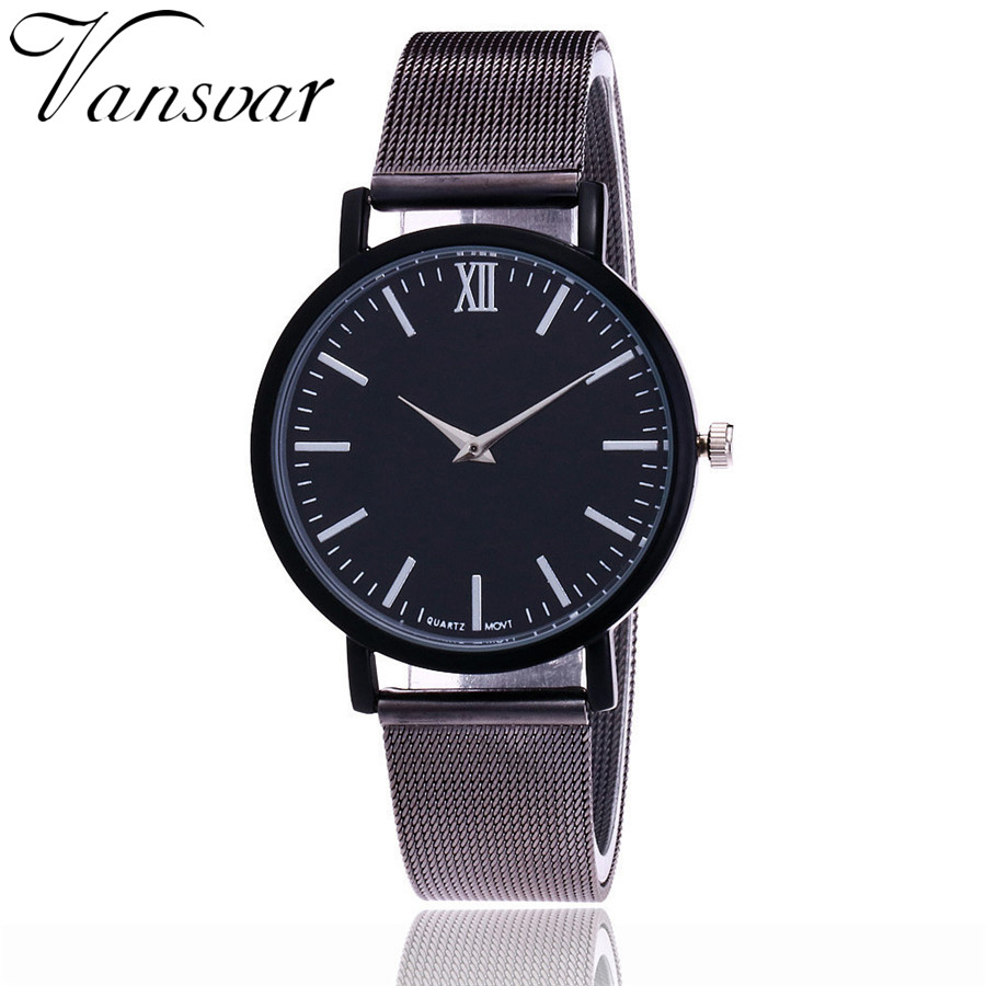 Vansvar Brand Fashion Rose Gold Mesh Band Armbandsur Luxury Women - Damklockor - Foto 4