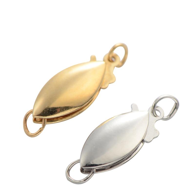 Hameçons en or pur 14 K, surface polie, collier de perles, bracelet, accessoires K jaune bijoux à bricoler soi-même, accessoires simples