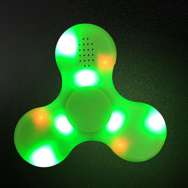 Fidget Spinner LED Light Bluetooth Speaker Finger EDC Hand Fidget Spinner For Autism and ADHD Relief Focus Anxiety Stress Toys