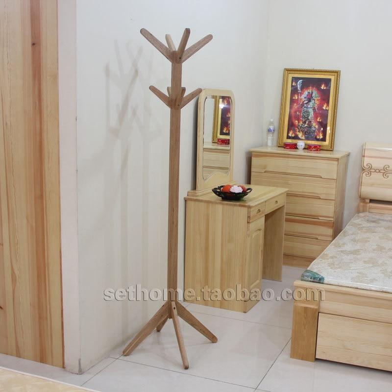 Nordic Ikea Style Simple And Stylish Wood Floor Coat Rack
