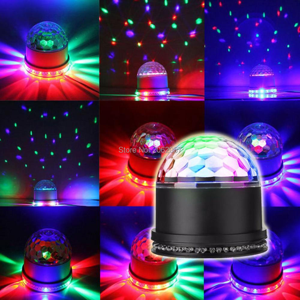 mini RGB 15W colorful magic ball 48 LEDs Disco Rotating light DJ Disco music ball for club party stage equiment simulation mini golf course display toy set with golf club ball flag