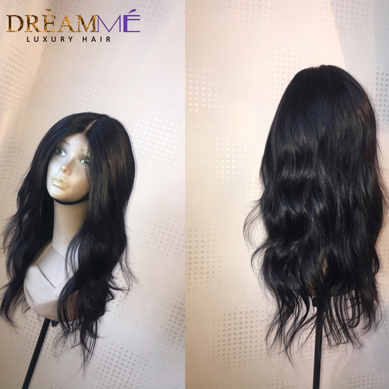 Brazilian Natural Wave Human Hair Wigs For Black Woman Glueless Full Lace Human Hair Wigs With