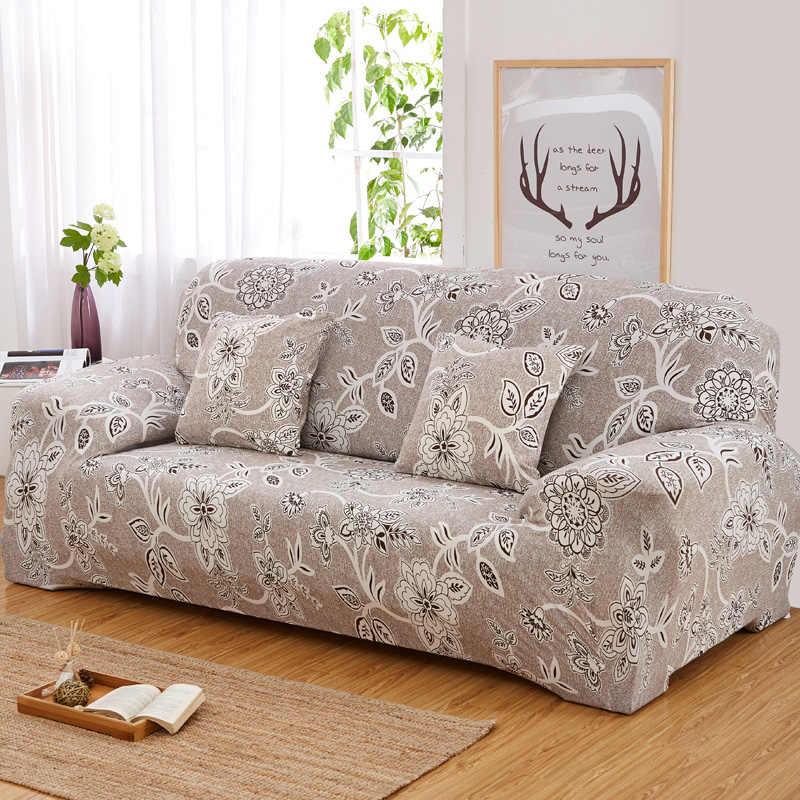 Patrón Floral elástico Universal fundas de sofá seccional sofá cubierta de esquina fundas para muebles sillones decoración del hogar