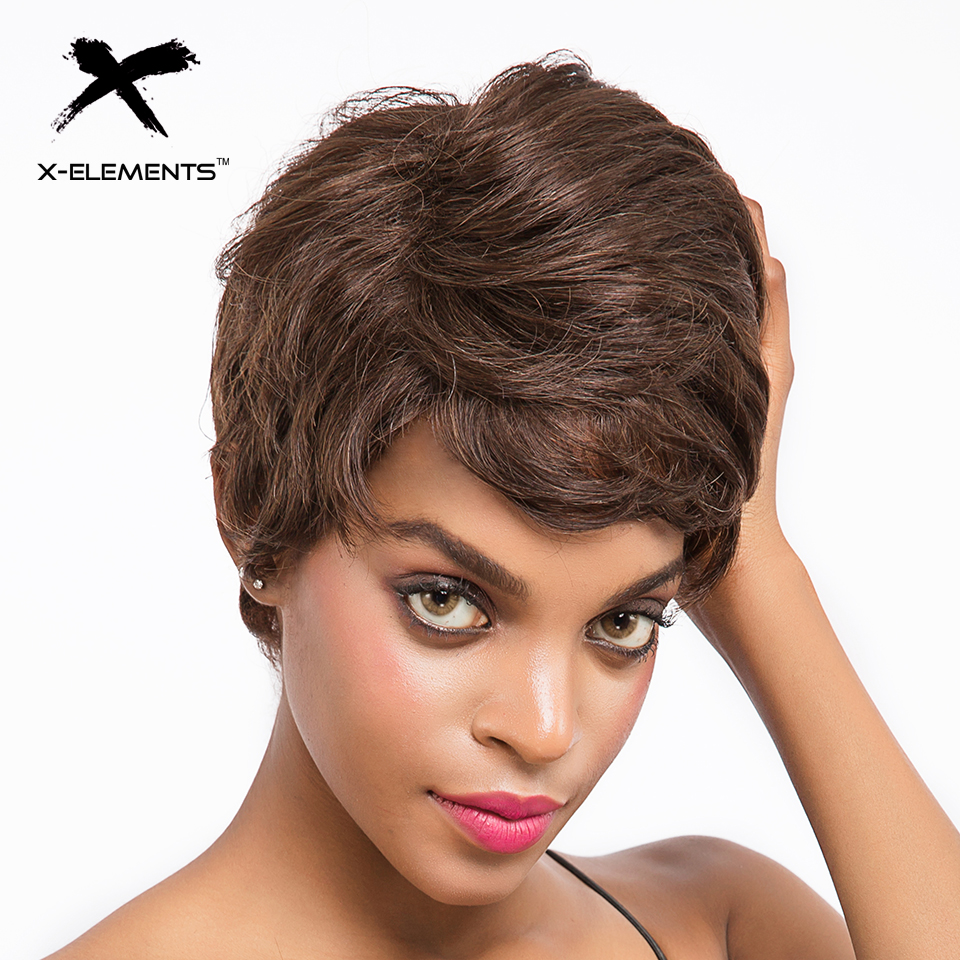 Sapphire Short Wigs For Black Women Remy Ocean Wave Human Hair Wig 4inch 100% Human Hair Machine Made Lace Front Remy Hair Wigs Human Hair Lace Wigs Hair Extensions & Wigs