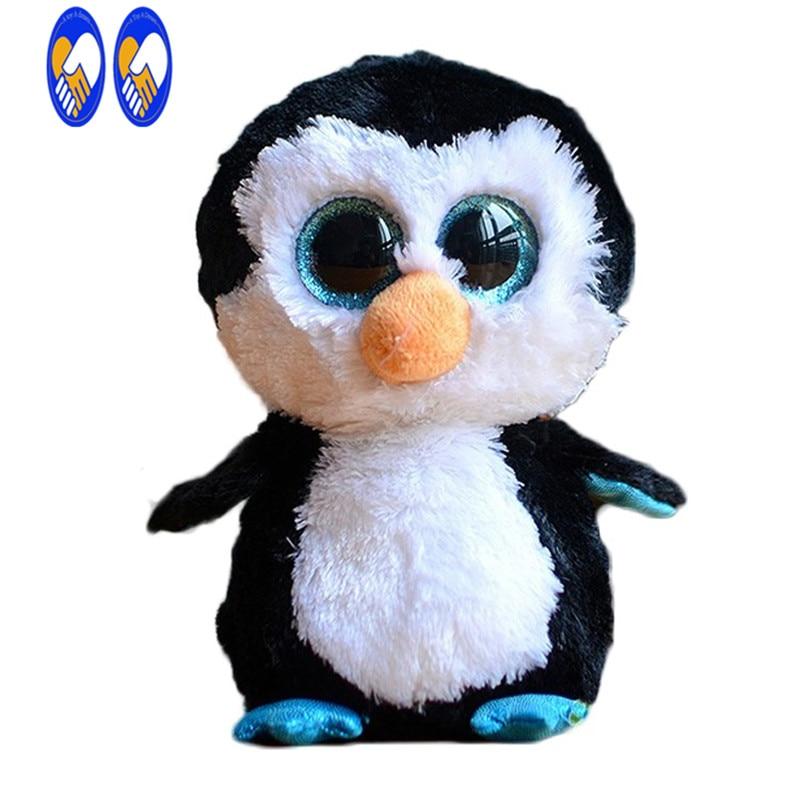 (Игрушка мечта) ty Beanie Боос оригинальный большой Средства ухода для век плюшевые игрушки куклы 10-15 см Черный Пингвин ty для маленьких детей со ...