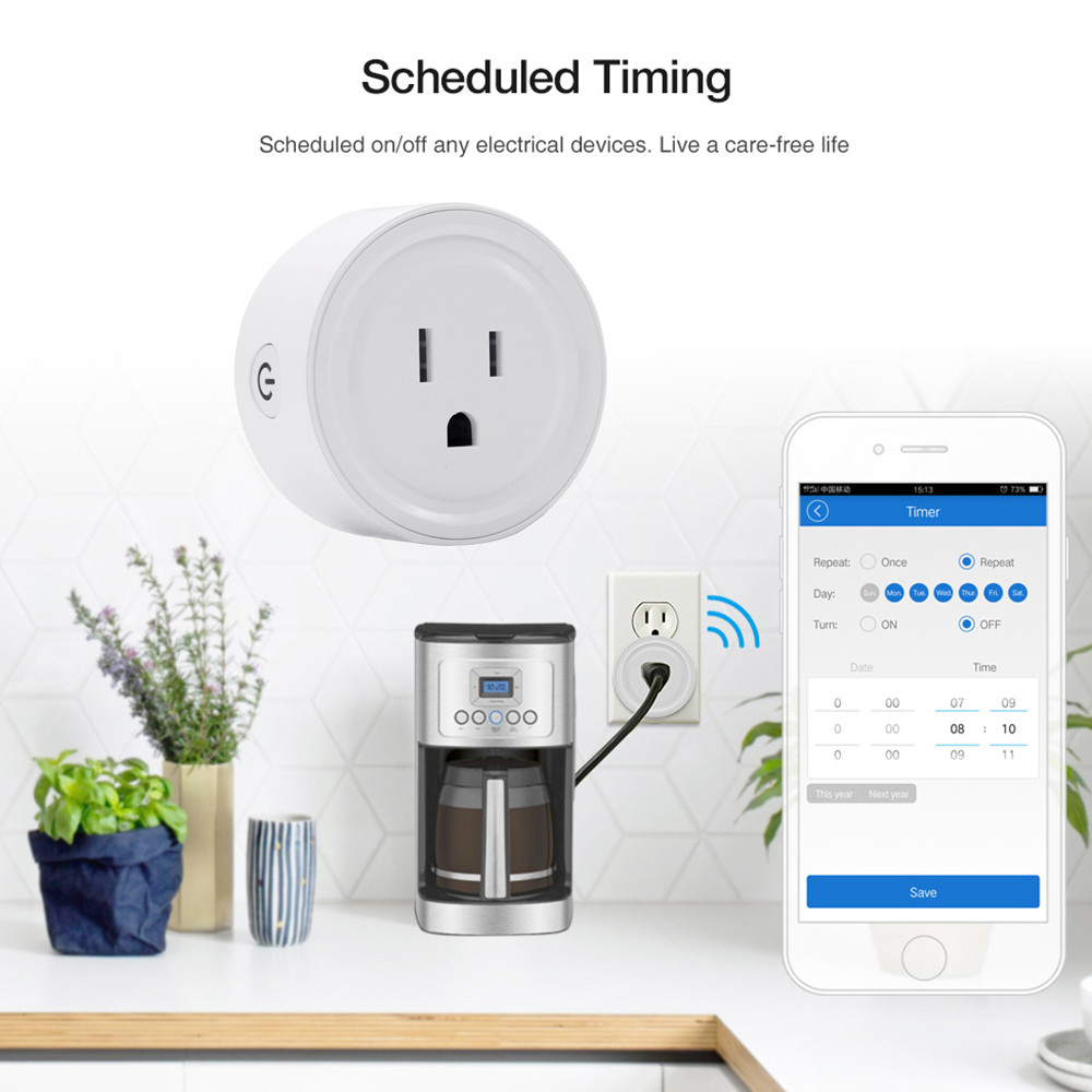 Smart WiFi Outlet Plug/Power Socket