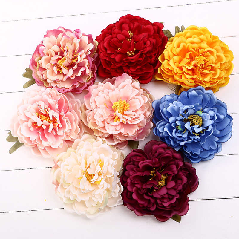 Summer Style Sunny Bright Flower Hair Clips Fashion Woman Lady Female Elegant Bohemian Peony Flower Retro Holiday Hair Accessory