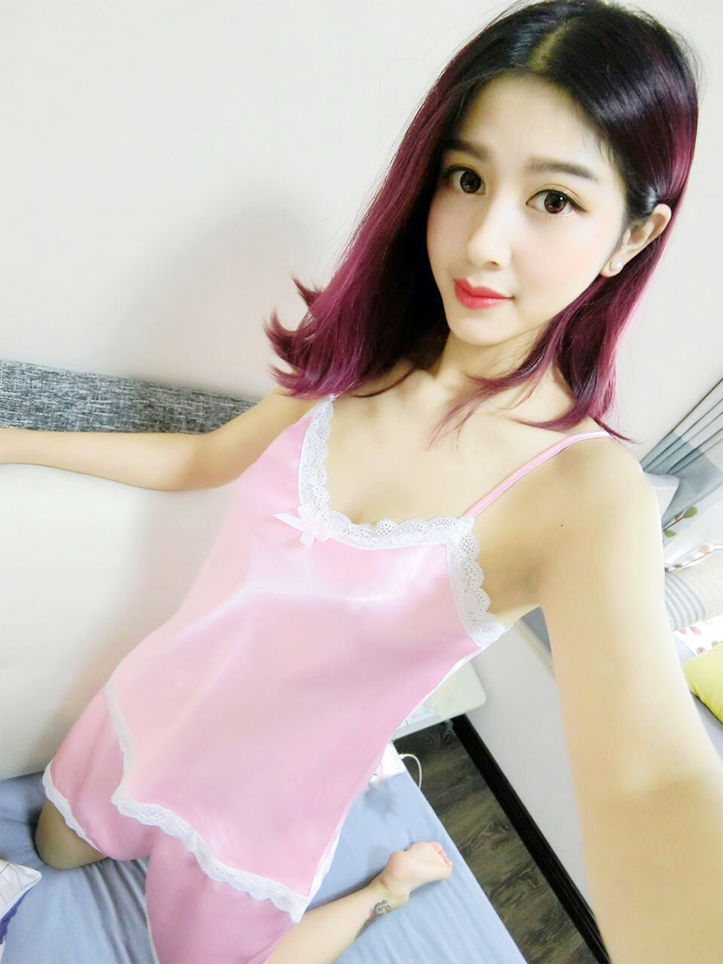 Women Pajamas Sexy Lace Silk Pyjamas Set Lingerie Clothes ...