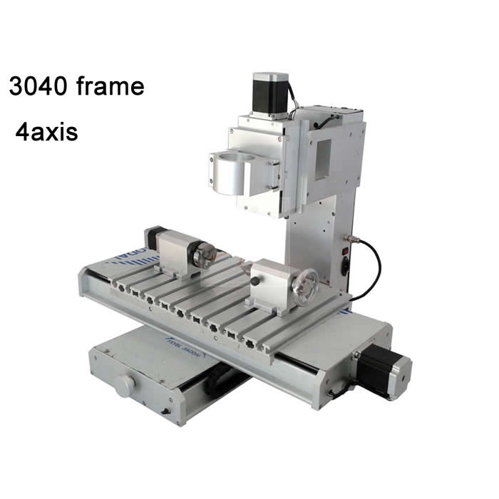 Pillar Type CNC 3040 Frame 4Axis cnc engraving machine work area 300 * 400 * 150MM for Aluminum, copper and jade, stone etc best quality cnc 5th axis a aixs rotary axis plate type disc type for cnc router cnc engraving machine