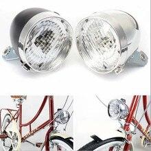 3 linterna LED luz delantera de la bicicleta lámpara LED Retro Vintage faro linterna impermeable 3 pilas AAA 160 ángulo de visión