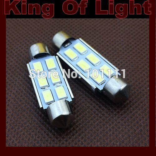 2x High quality car led lighting C5W 39mm Festoon 6 led smd 5630 canbus obc error free no error Free shipping