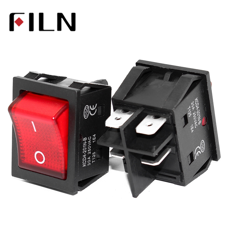 On Off On On 30A/250V 16A/250V Heavy Duty 4 Pin T85 Rocker Switch With Light 12V 24V 110V 220V 380V