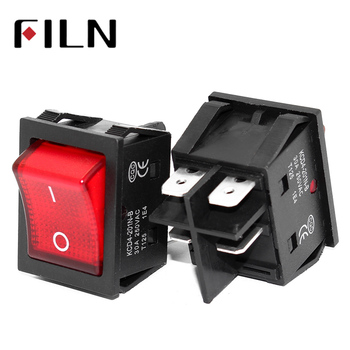 цена on off on on 30A/250V 16A/250V heavy duty 4 pin t85 rocker switch with light 12V 24V 110V 220V 380V онлайн в 2017 году