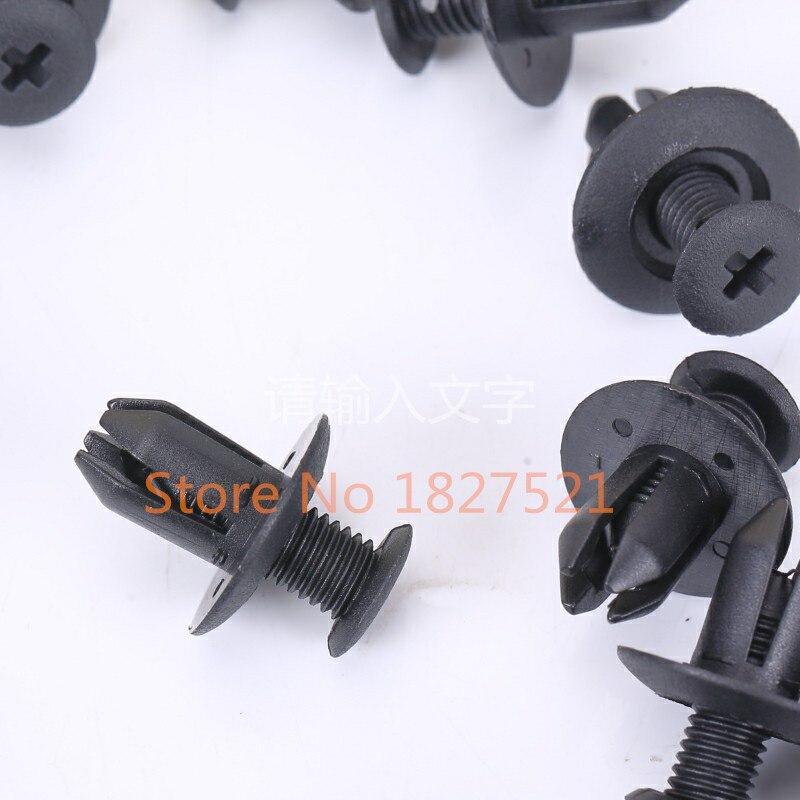 100PCS Car Auto Fastener Bumper Clip Pin Radiator Cowling Air Box Rivet 92138218